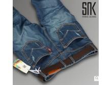 正品SNK夏季新款直筒修身商务男装牛仔裤 高端气质时尚百搭经典款