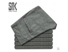 正品snk夏季新款男士装亚麻长裤 都市时尚棉麻裤流行英伦风休闲裤