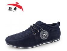 稳步 春秋新款男士运动休闲鞋 经典英伦风单鞋低帮鞋时尚潮流鞋子