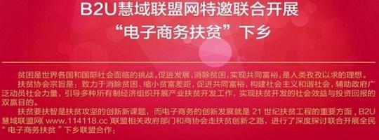 """B2U慧域联盟网联合开展""""电子商务扶贫""""下乡的联盟书"""