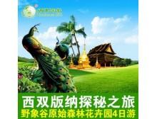 昆明出发云南旅游西双版纳旅游旅行4天3晚跟团游4日游旅行社线路