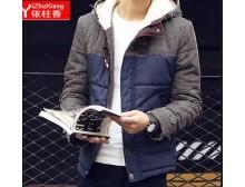依柱香2015韩版棉衣男外套 短款男士冬装加厚棉服大码男装棉袄潮