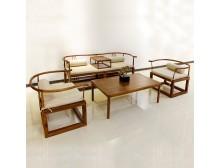 禅意家具沙发新中式客厅沙发组合现代简约样板房会所创意沙发定制