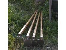 园艺工具 园林用品 农具 大锄头 长柄 全钢三齿耙 松土必备 农作